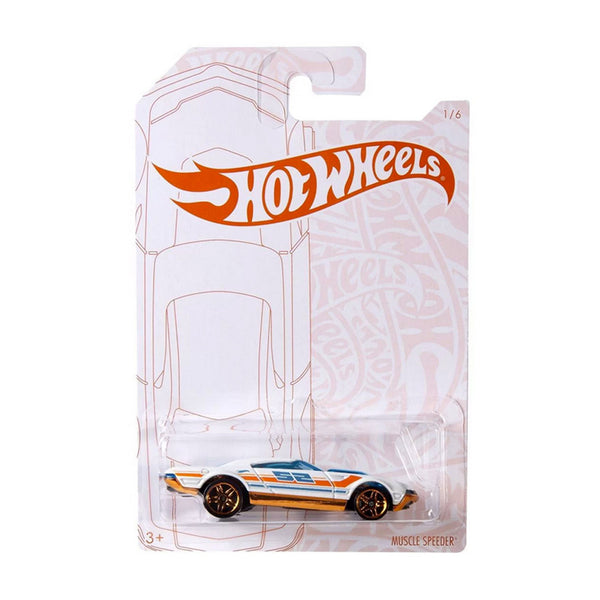 HOT WHEELS SURTIDO PEARL Y CHROME - MUSCLE SPEEDER GJW48