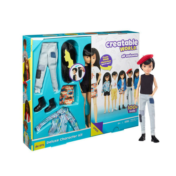 CREATABLE WORLD KIT DE PERSONAJE DELUXE - CABELLO NEGRO GND50