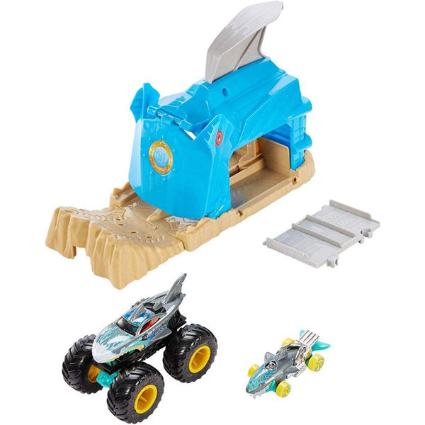 HOT WHEELS MONSTER TRUCKS GARAGE LANZADOR - SHARK WREAK GKY01