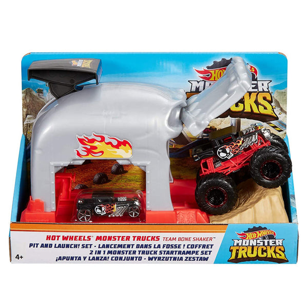 HOT WHEELS MONSTER TRUCKS GARAGE LANZADOR - BONE SHAKER GKY01