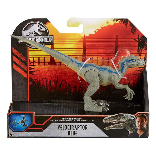 JURASSIC WORLD ATAQUE COLOSAL - VELOCIRAPTOR BLUE GCR54