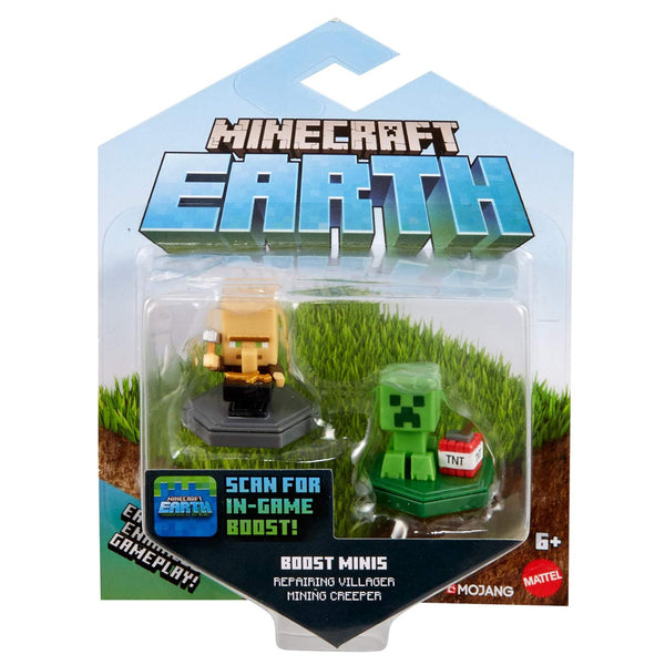 MINECRAFT SURTIDO 2-PACK FIGURAS BOOST MINI - CREEPER GKT41