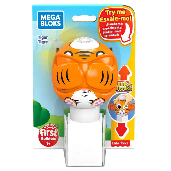 FISHER PRICE MEGA BLOKS PEEK A BLOCKS JUGUETE PARA BEBÉ - TIGRE GKX45