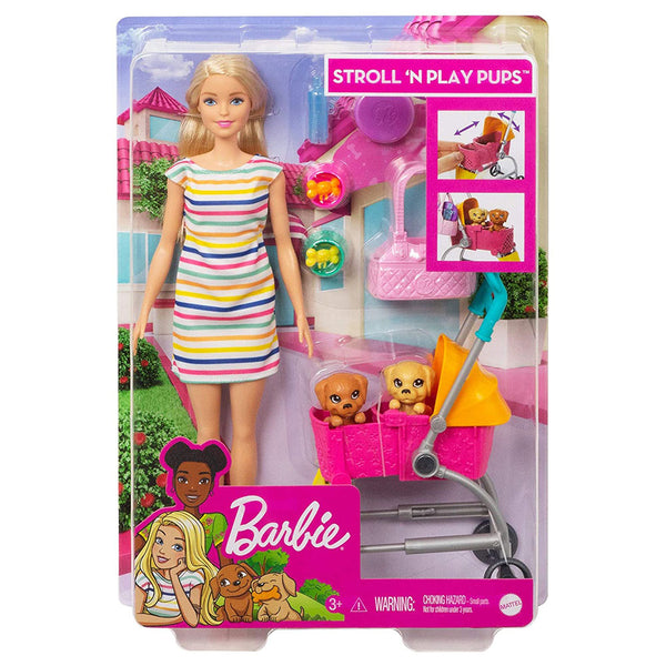 BARBIE CARRIOLA DE PERRITOS GHV92