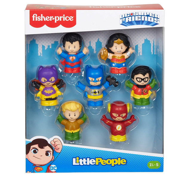 FISHER PRICE LITTLE PEOPLE DC SUPER FRIENDS PAQUETE DE FIGURAS SUPER HÉROES GMJ14