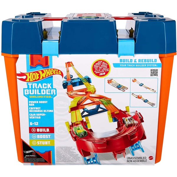 HOT WHEELS TRACK BUILDER UNLIMITED MEGA CAJA MAXIMO IMPULSO GNJ01
