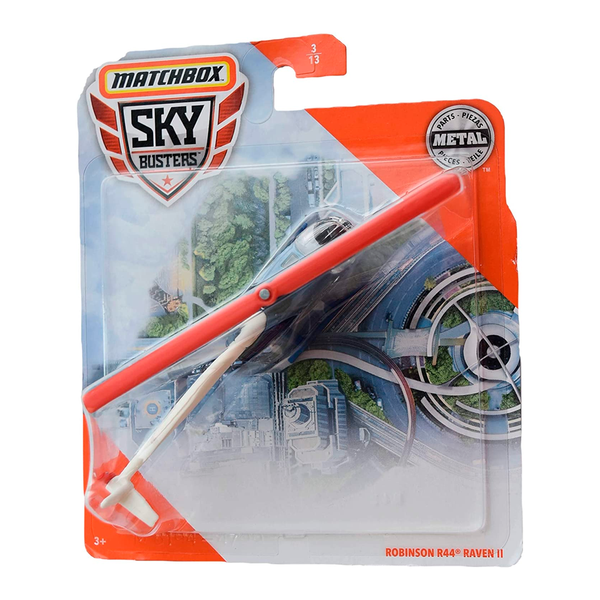 MATCHBOX SKYBUSTERS - ROBINSON R44 RAVEN II 68982