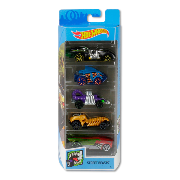 HOT WHEELS PAQUETE DE 5 - STREET BEASTS 1806