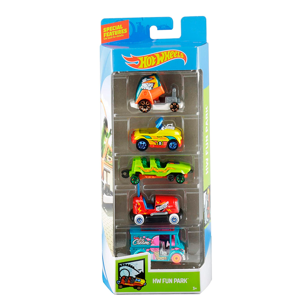 HOT WHEELS PAQUETE DE 5 - HW FUN PARK 1806