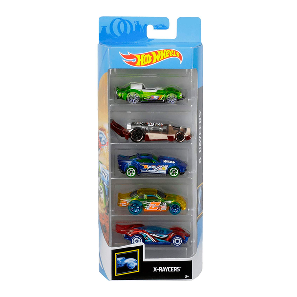 HOT WHEELS PAQUETE DE 5 - X-RAYCERS 1806