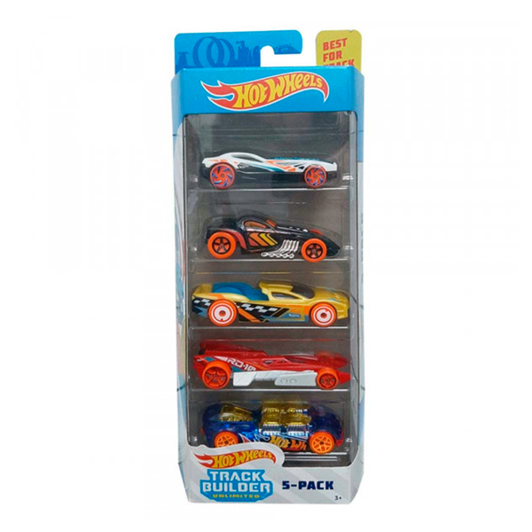 HOT WHEELS PAQUETE DE 5 - TRACK BUILDER 1806