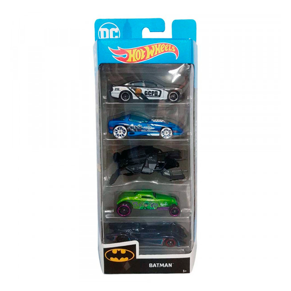 HOT WHEELS PAQUETE DE 5 - BATMAN 1806