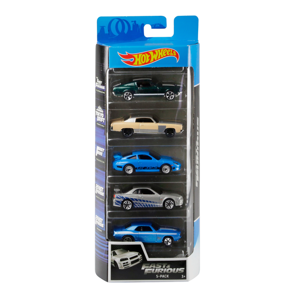 HOT WHEELS PAQUETE DE 5 - FAST AND FURIOUS 1806