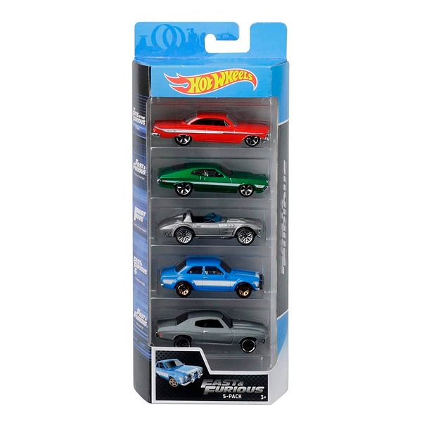 HOT WHEELS PAQUETE DE 5 - FAST AND FURIOUS II 1806