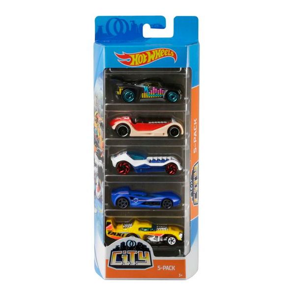 HOT WHEELS PAQUETE DE 5 - CITY II 1806