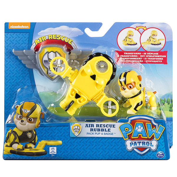 PAW PATROL TRANSFORMABLES AEREOS - RUBBLE 6027033