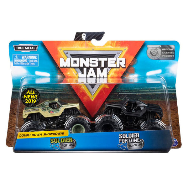 2 PACK 1:64 MONSTER JAM - SOLDIER FORTUNE - SOLDIER FORTUNE BLACK OPS