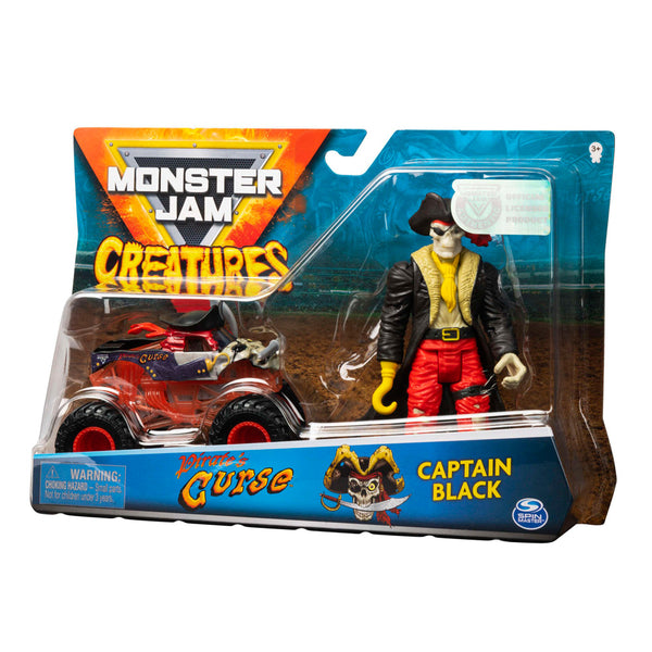 VEHICULO 1:64 CON FIGURA - CURSE Y CAPTAIN BLACK 6055108