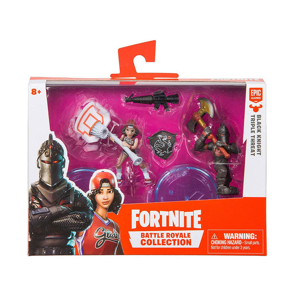 FORTNITE FIGURAS 2 PK BATTLE ROYALE - BLACK KNIGHT Y TRIPLE THREAT
