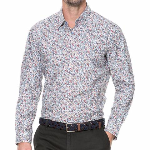 Cowes Bay Shirt in Botanical