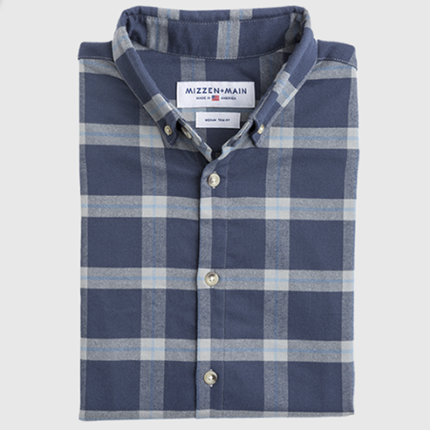 Fairview Blue & Grey Plaid Flannel Shirt