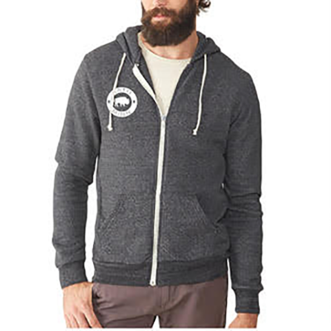 'The Minneopa' Bison Full-Zip Hoodie