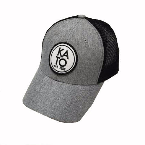 'Kato Column' Mesh Snapback-Black/Grey