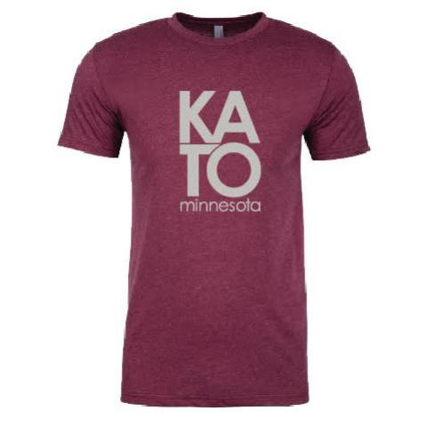 The Kato Column Tee in Maroon