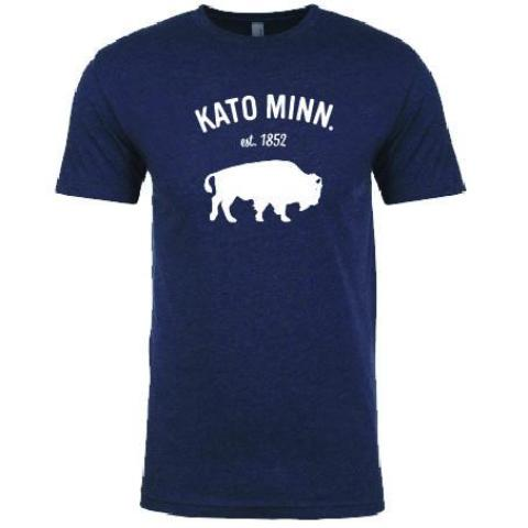 Kato Bison Tee in Navy and White