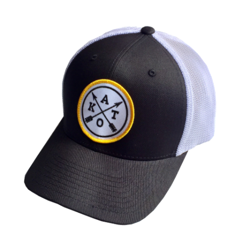 Kato Cross Flexfit Cap in Black/White