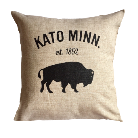 Kato Bison Square Pillow