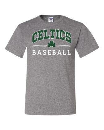 T-Shirt with Green and White Celtics Baseball Design