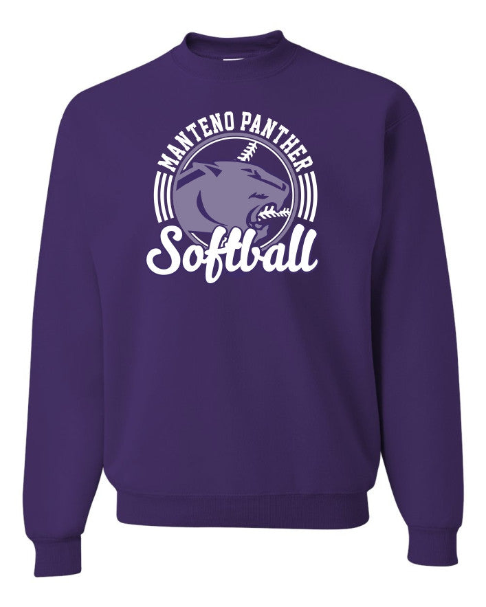 Crewneck Sweatshirt with MHS Softball Design