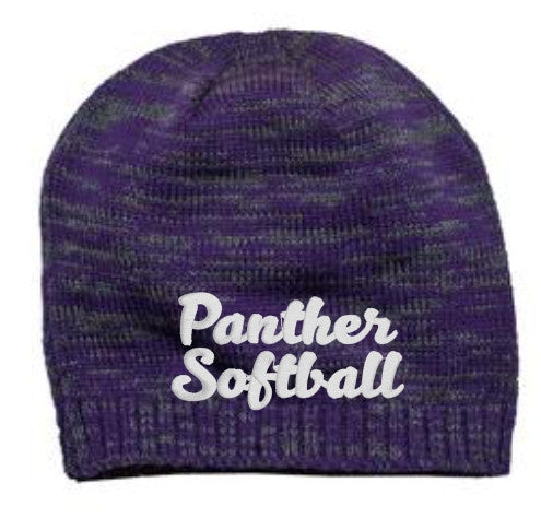 Beanie with MHS Softball Embroidered Design