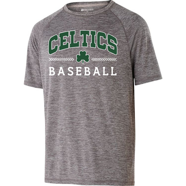 Youth Electrify Shirt 2.0 with Dark Green and White Celtics Baseball Design