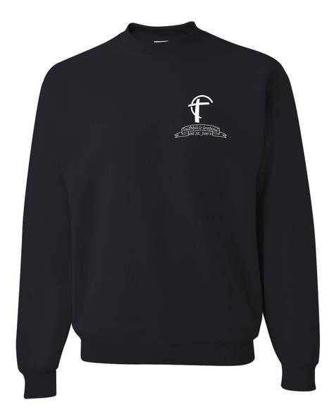 Youth Crewneck Sweatshirt with St. Joes Faithful and Grateful Cross Logo