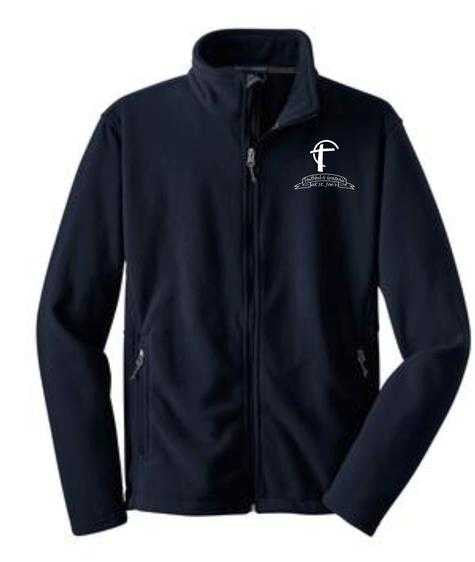 Fleece Jacket with St. Joes Faithful and Grateful Cross Logo
