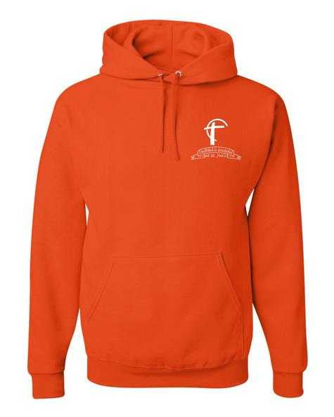 Youth Hooded Sweatshirt with St. Joes Faithful and Grateful Cross Logo