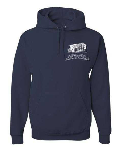 Hooded Sweatshirt with St. Joes Faithful and Grateful Church Logo