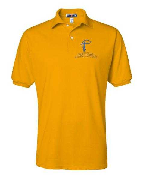 Adult 50/50 Polo with St. Joes Faithful and Grateful Cross Logo