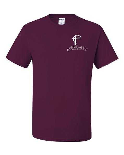 T-shirt with St. Joes Faithful and Grateful Cross Logo