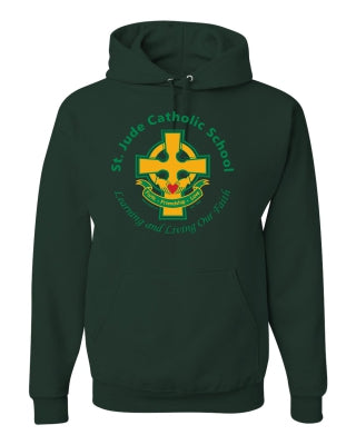 Youth Hooded Sweatshirt with Full Front Cross Logo