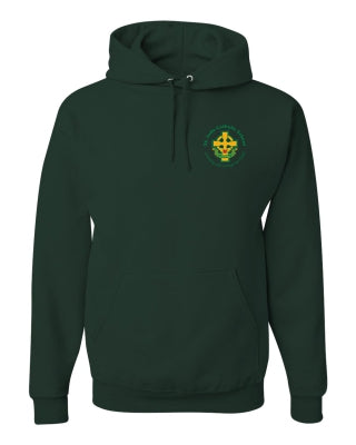 Youth Hooded Sweatshirt with Left Chest Cross Logo