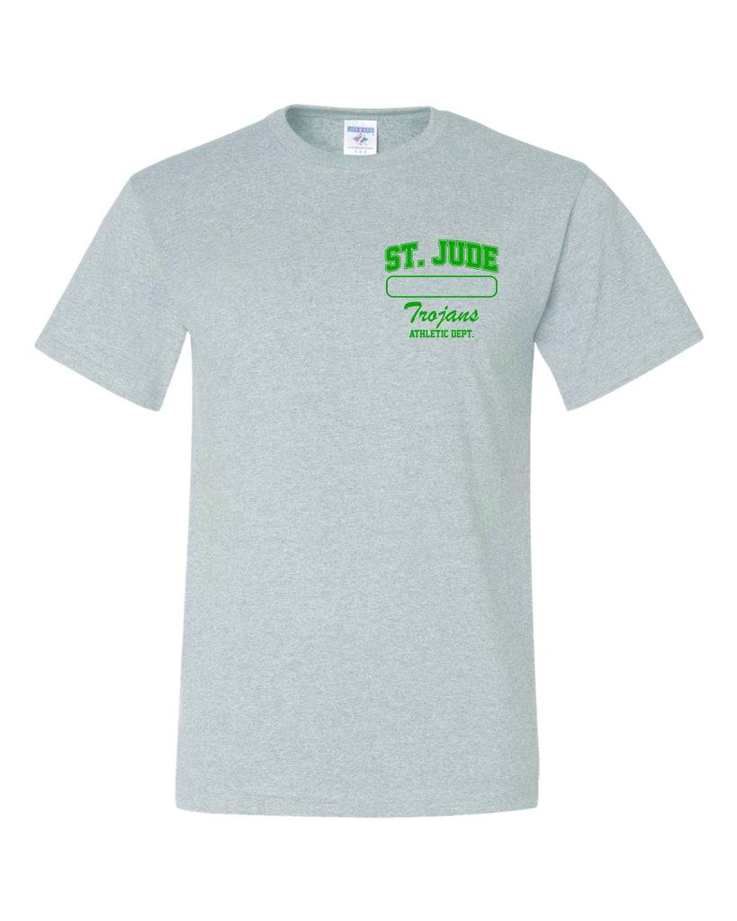 GYM T-SHIRT UNIFORM St. Jude with Left Chest Name Bar