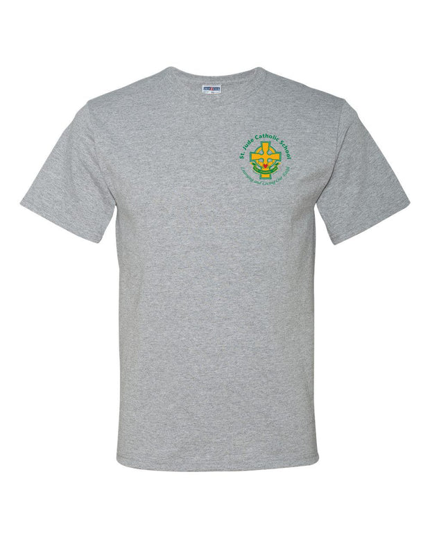 SPIRITWEAR St. Jude T-Shirt with Left Chest Cross Logo
