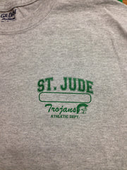 GYM T-SHIRT UNIFORM Youth St. Jude with Left Chest Name Bar