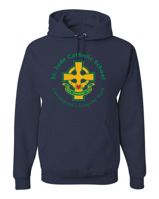 SPIRITWEAR Hooded Sweatshirt with Full Front Cross Logo