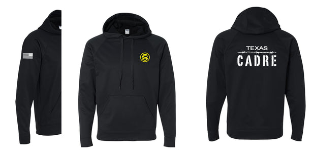 Texas Cadre Black Performance® Tech Hooded Pullover Sweatshirt