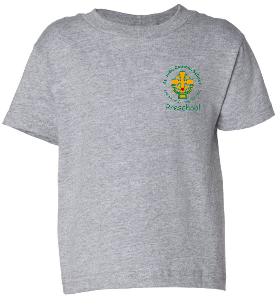 SPIRITWEAR St. Jude Preschool T-Shirt with Left Chest Cross Logo
