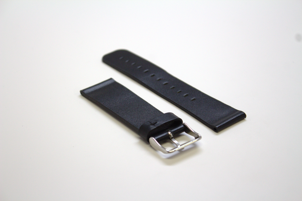Black Sport Leather Watch Band